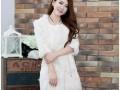 獭兔毛修身中长款七分袖加厚保暖皮草外套 (1)
