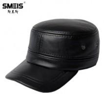 斯美斯真皮帽子男士头层牛皮棒球帽
