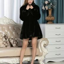 金帝威伦服饰黑色裙摆帽038