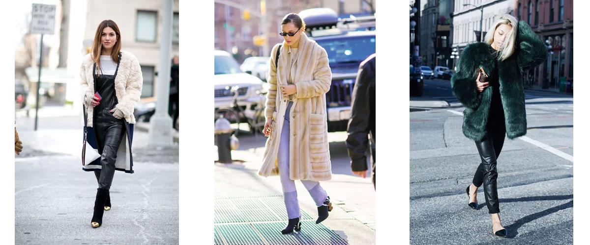 皮草穿不好?看看下面的这些搭配,你就知道怎么穿了!01搭配舒适直筒裤,保暖不僵硬亚裔时尚博主Aimee Song在淡蓝色的皮草外套下搭配了Tibi的薰衣草色衬衫和毛边直筒牛仔裤