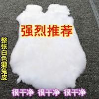 整张白色獭兔毛皮服饰帽子鞋子包包装饰材料配件皮草辅料原材料