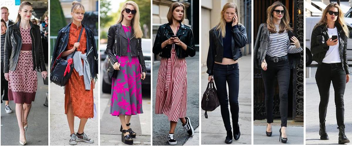 36套黑色皮衣搭配,兼具优雅与帅气,让你一个月美的不重样