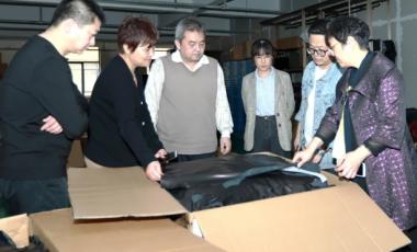 中国皮革协会真皮认证专家组考核海宁中博服饰