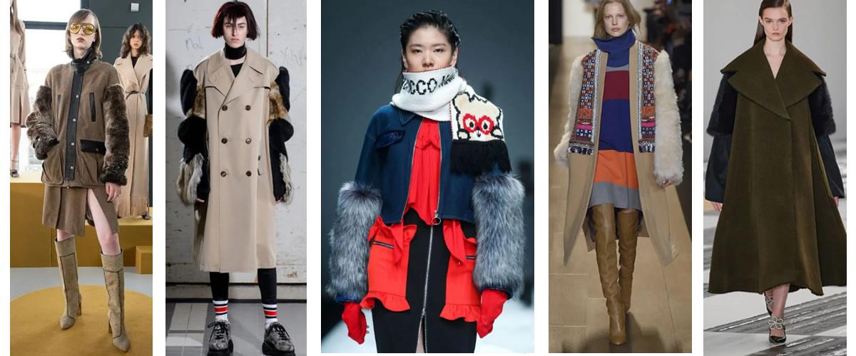 皮草袖拼接外套是冬天最温暖的惊喜