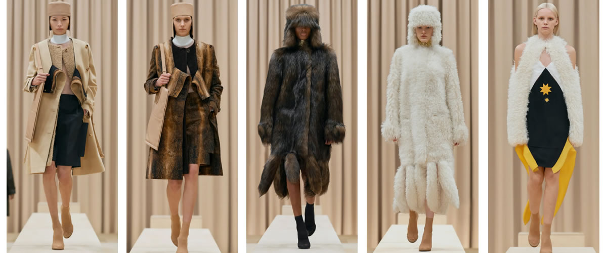 "Burberry 2021年秋冬成衣发布,被""剪开""的皮草呈现出一种打破常规的美感。Riccardo Tisci这样表达:不要相信你认为的任何事。自信任创意总监Tisci三年前来到Burberry,他"