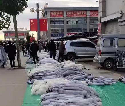 今日尚村皮毛交易市场小集狐、貉、貂交易情况 2021.10.16